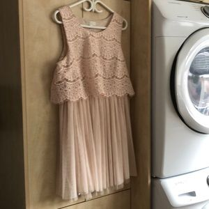 F21+ light pink dress